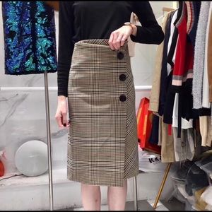 Checked Dress Skirt